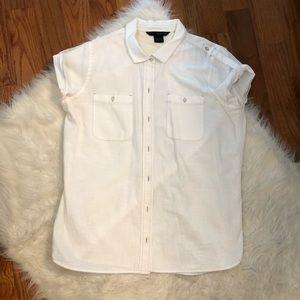 Calvin Klein Cotton White Button Down Shirt